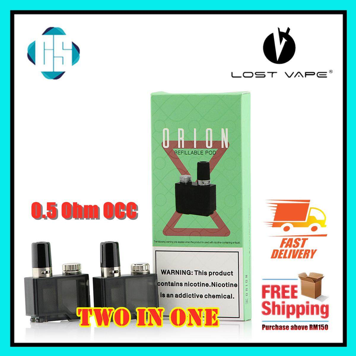 Original Genuine Lost Vape Orion Lost Vape DNA GO Replacement Cartridge Two  In One Pack 0 25 DTL Or 0 5 Ohm MTL Saltnic OCC