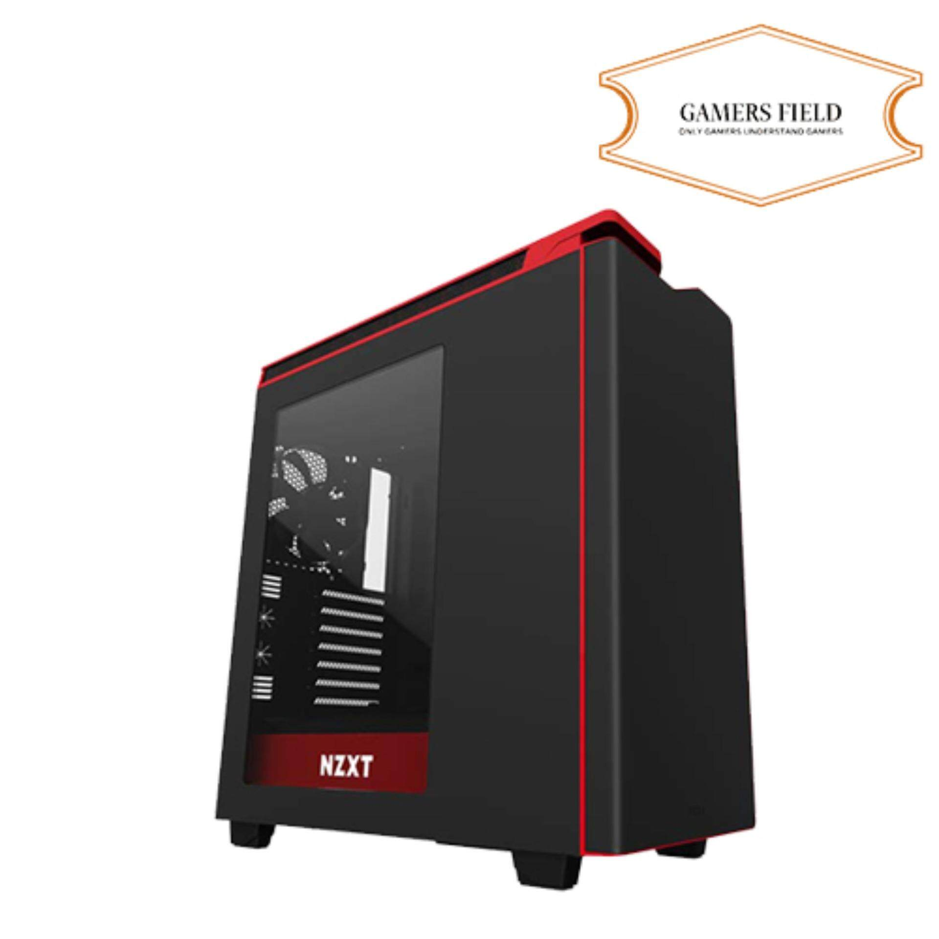 NZXT H440 Plus Black with Red Mid-Tower ATX Case Malaysia