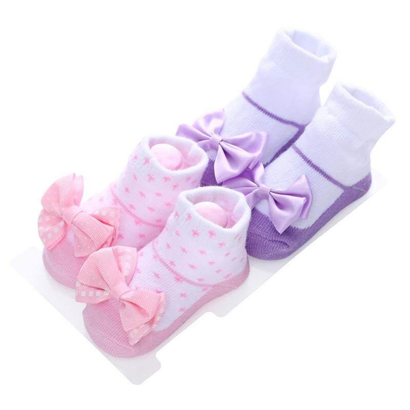 2739b6cac 2Pairs Lot Newborn Baby Socks Cotton Lace Flower Bowknot Socks Baby Girl  Princess Short Socks