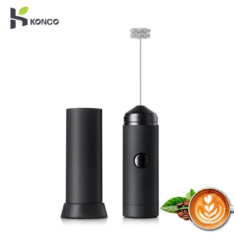 Konco Handheld Milk Frother, Portable And Powerful Foam Maker For Make Cappuccinos, Lattes, Bulletproof And Keto Coffee, Handheld With More Powerful High Torque Motor By Konco.