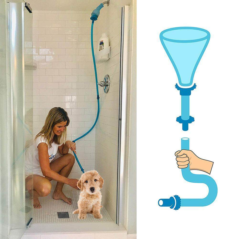 Universal Connector Dog Wash Hose Attachment Silicone Pet Shower Sprinkler Hose