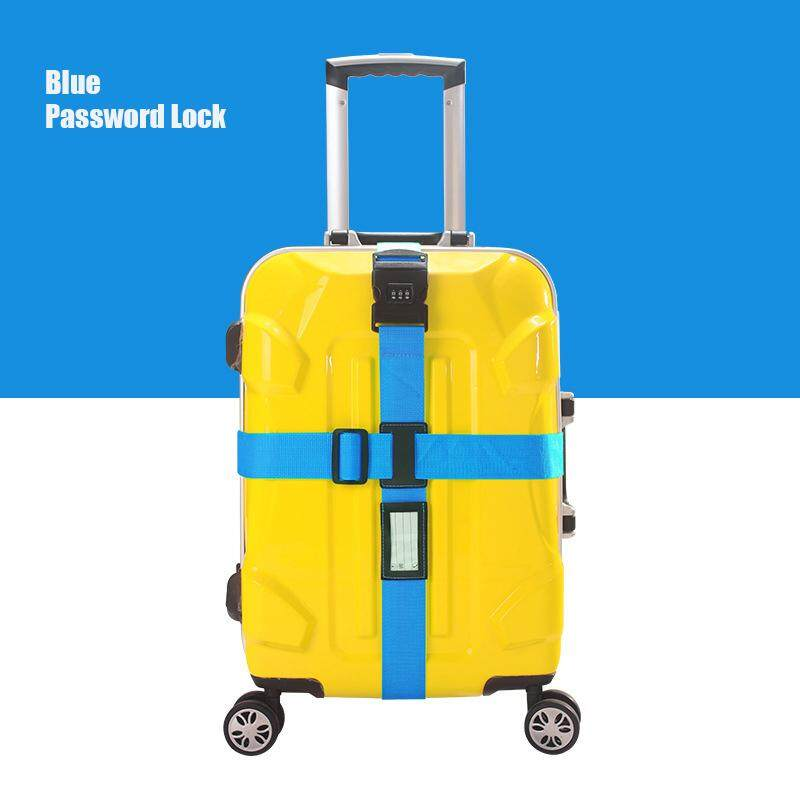 Luggage Belt Adjustable Cross Type Strap Password Lock image on snachetto.com