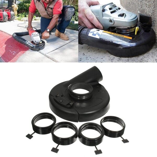 18cm/7 Vacuum Dust Shroud Cover Convertible for Angle Grinder Hand Grin