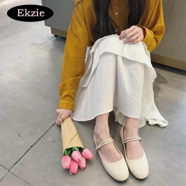 Giày Da Màu Đen Sang Trọng Hàn Quốc, Giày Một Lớp-Phù Hợp Với Phụ Nữ Đơn Giản Hoài Cổ giá rẻ