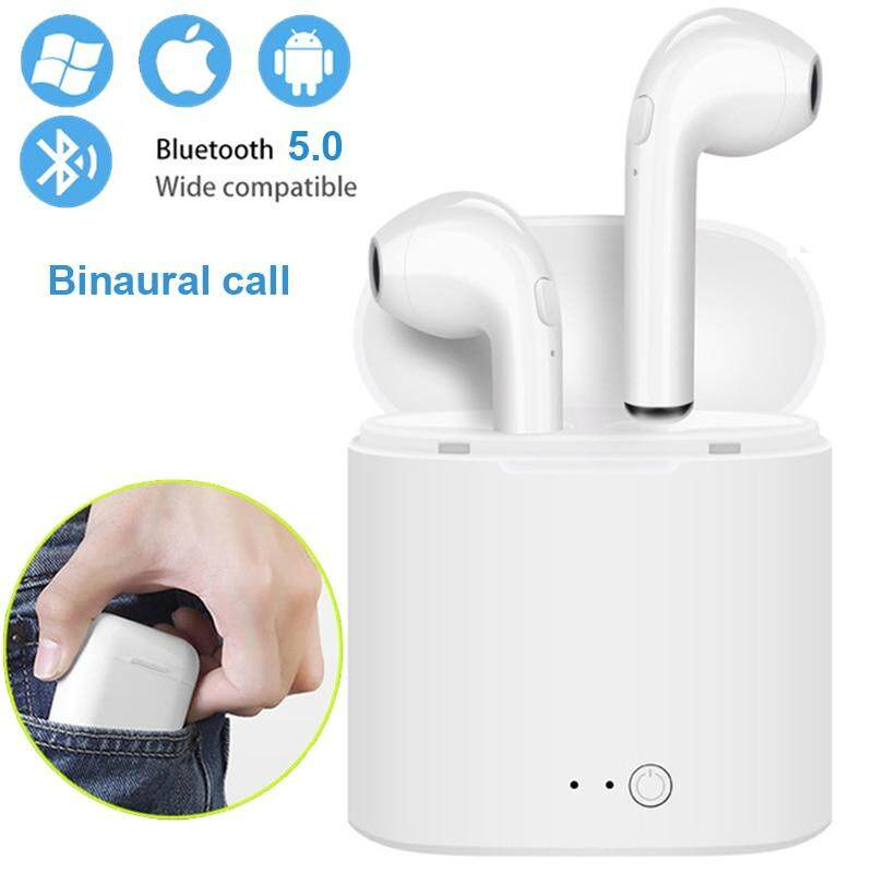 General  Wireless Bluetooth Earphone Stereo Earbud Headset With Charging Box Mic For Iphone Huawei Xiaomi Samsung All Smart Phone.