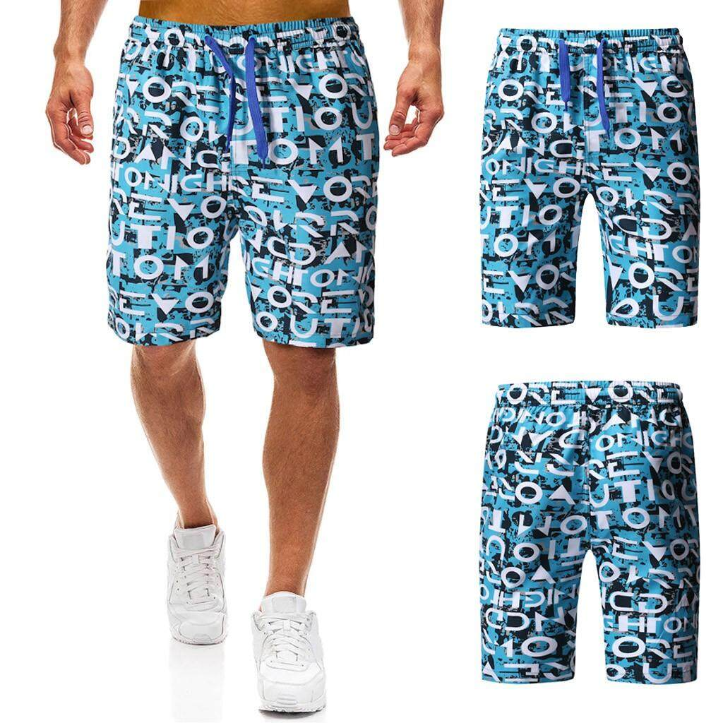 Mobilone Men Summer Print Trunks Quick Dry Beach Surfing Running Short Pant By Mobilone.