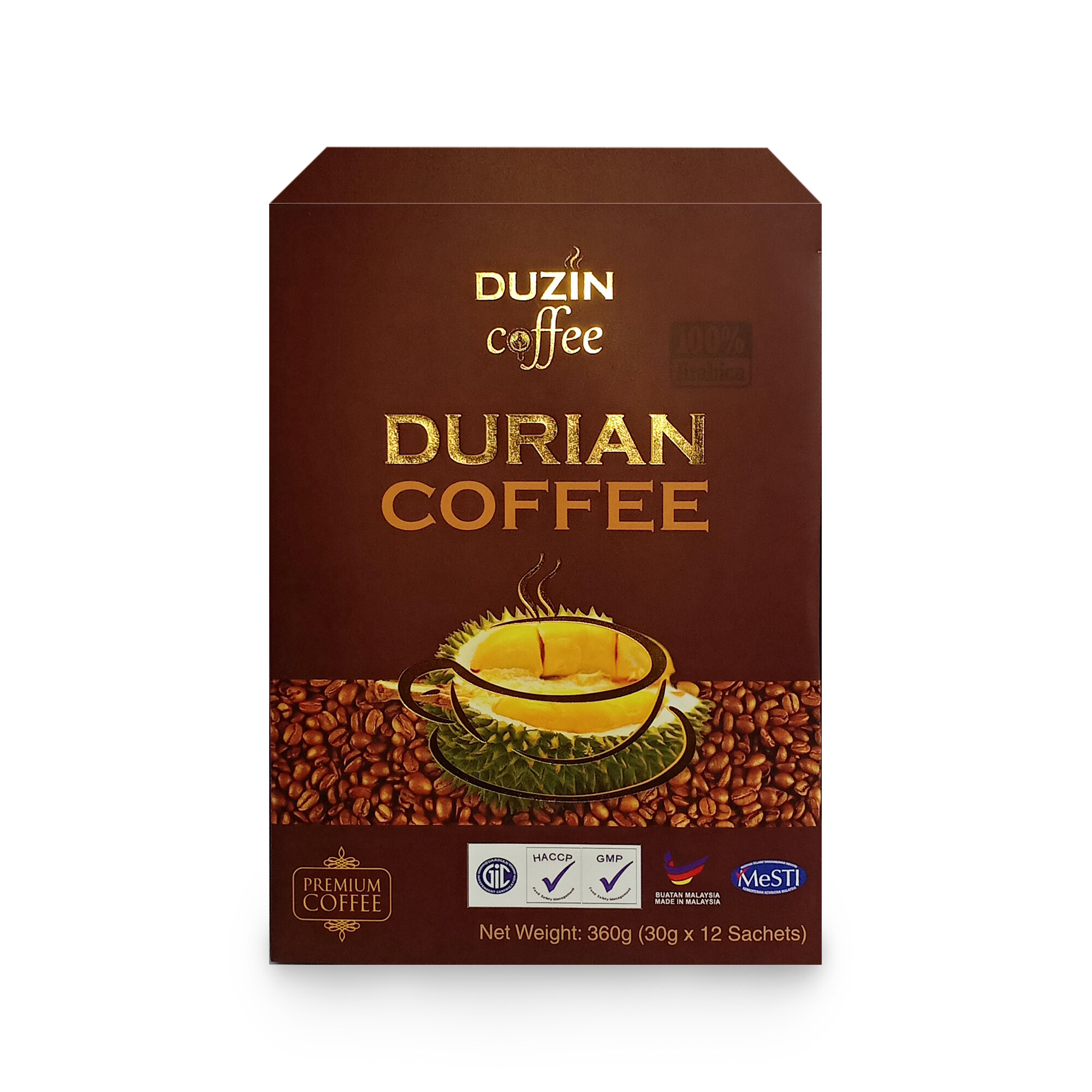 Duzin Durian Coffee Premium Arabica Coffee Aromatic taste Regulate Instant Coffee Thyroid Gland Relaxes Nerve & Muscle Beverage Drinks EXP March 2021