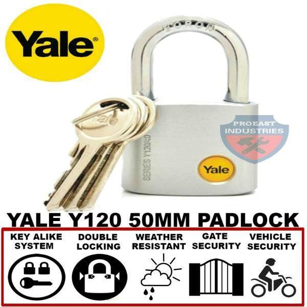 Yale Y120/50/127/1 Satin Chrome Padlock Keyed Alike System - 50mm x 1pcs