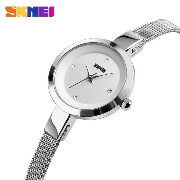 Đồng hồ thạch anh nữ Skmei dây đeo dạng lưới bằng thép chống gỉ chống nước thiết kế đơn giản sang trọng - INTL bán chạy