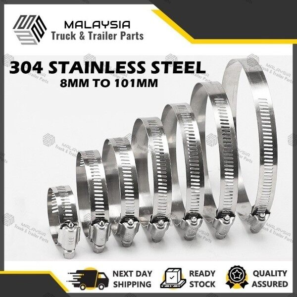 HIGH QUALITY STAINLESS STEEL HOSE CLAMP HOSE CLIP SS304 HOSE CLAMP AUTOMOTIVE HOSE CLAMP (8-101MM)