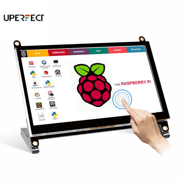 UPERFECT 7-inch Protable Monitor Raspberry Pi touch screen  1024X600 with dual speakers portable capacitive IPS display with HDMI Malaysia
