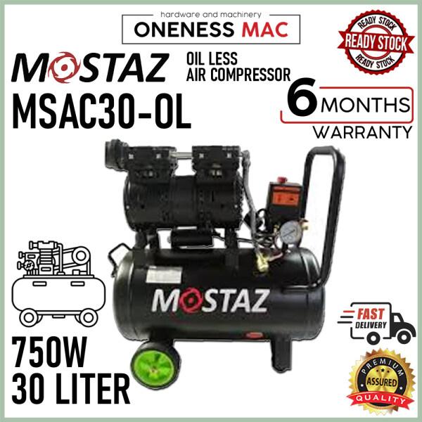 MOSTAZ 750W 30 LITER Silent and Oil-Free Air Compressor MSAC30-OL -2.0hP
