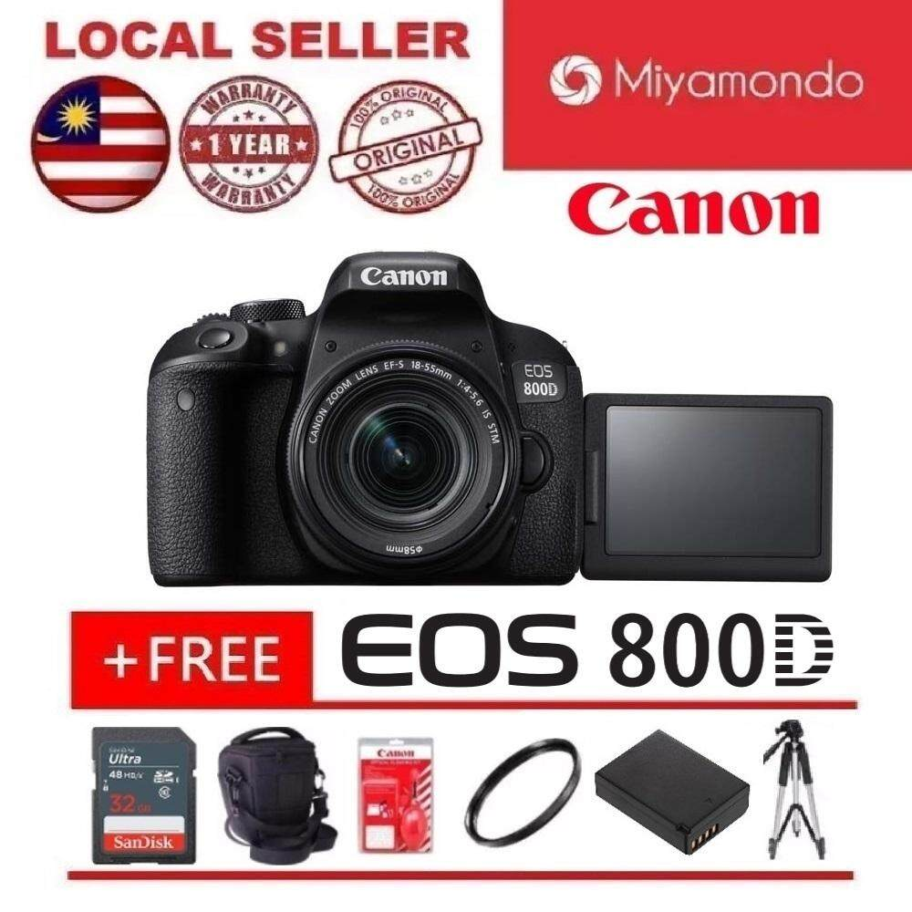 Canon EOS 800D DSLR Camera With 18-55mm Lens + 32GB + Bag + Tripod + Extra  Battery + Cleaning Kit + UV Filter