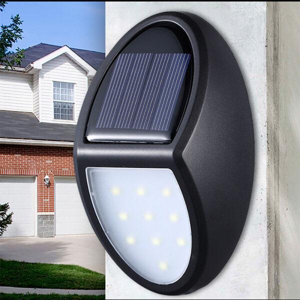 Coolmanloveit 10 Đèn LED Gắn Tường An Ninh 30Lm, Đèn Sân Ngoài Trời Năng Lượng Mặt Trời, Không Thấm Nước IP65