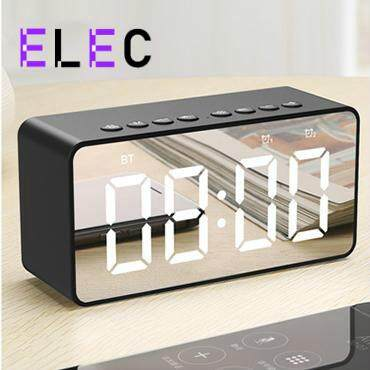 ELEC Portable Bluetooth Speaker Super Bass Wireless Stereo Speakers Support TF AUX mirror Alarm Clock for Phone Computer Malaysia