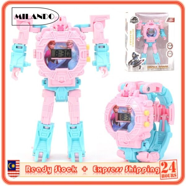 MILANDO Children Watches Transformer Design Digital Transforming Robot Toy Watch Come with BOX (Type 7: Transformer) Malaysia
