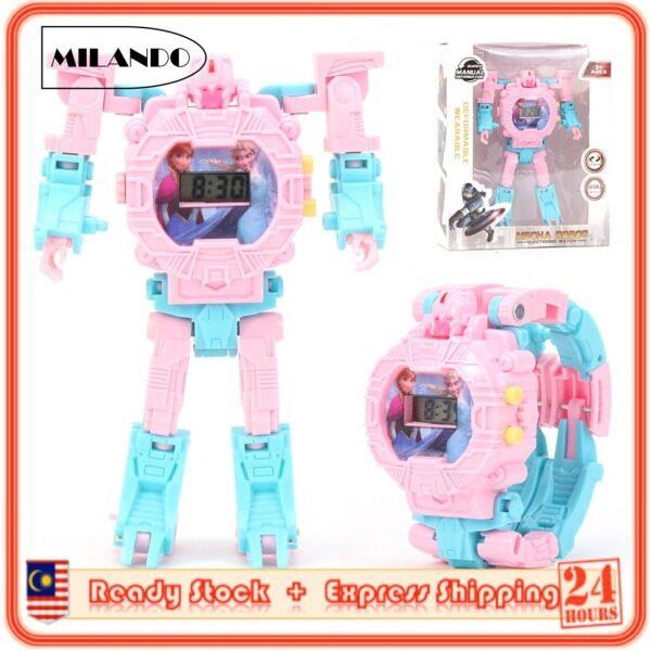 MILANDO Children Watches Transformer Design Digital Transforming Robot Toy Watch Come with BOX (Type 7: Transformer) Malaysia