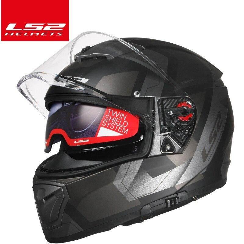LS2 FF390 Breaker Full Face Motorcycle Helmet Men Racing Capacetes Double Lens