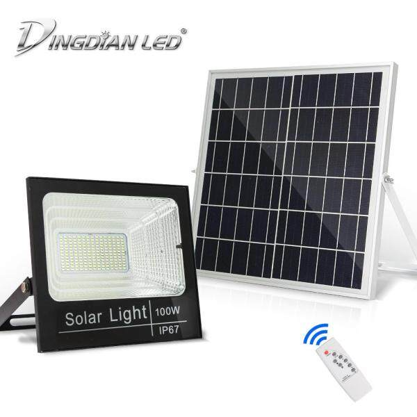 DINGDIAN LED LED Outdoor Solar Floodlight Remote Control Waterproof Super Bright Lampu Solar LED Outdoor Light 10W 25W 40W 60W 100W 200W Cold White 6500K for Corridor Garden Courtyard Light