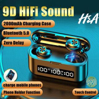 H & A Tai Nghe Không Dây TWS Bluetooth 5.0 Tai Nghe Tai Nghe 2000MAh Hộp Sạc Tai Nghe 9D Âm Thanh Nổi HIFI Thể Thao Không Thấm Nước Tai Nghe Nhét Tai Earbuds Có Micrô thumbnail