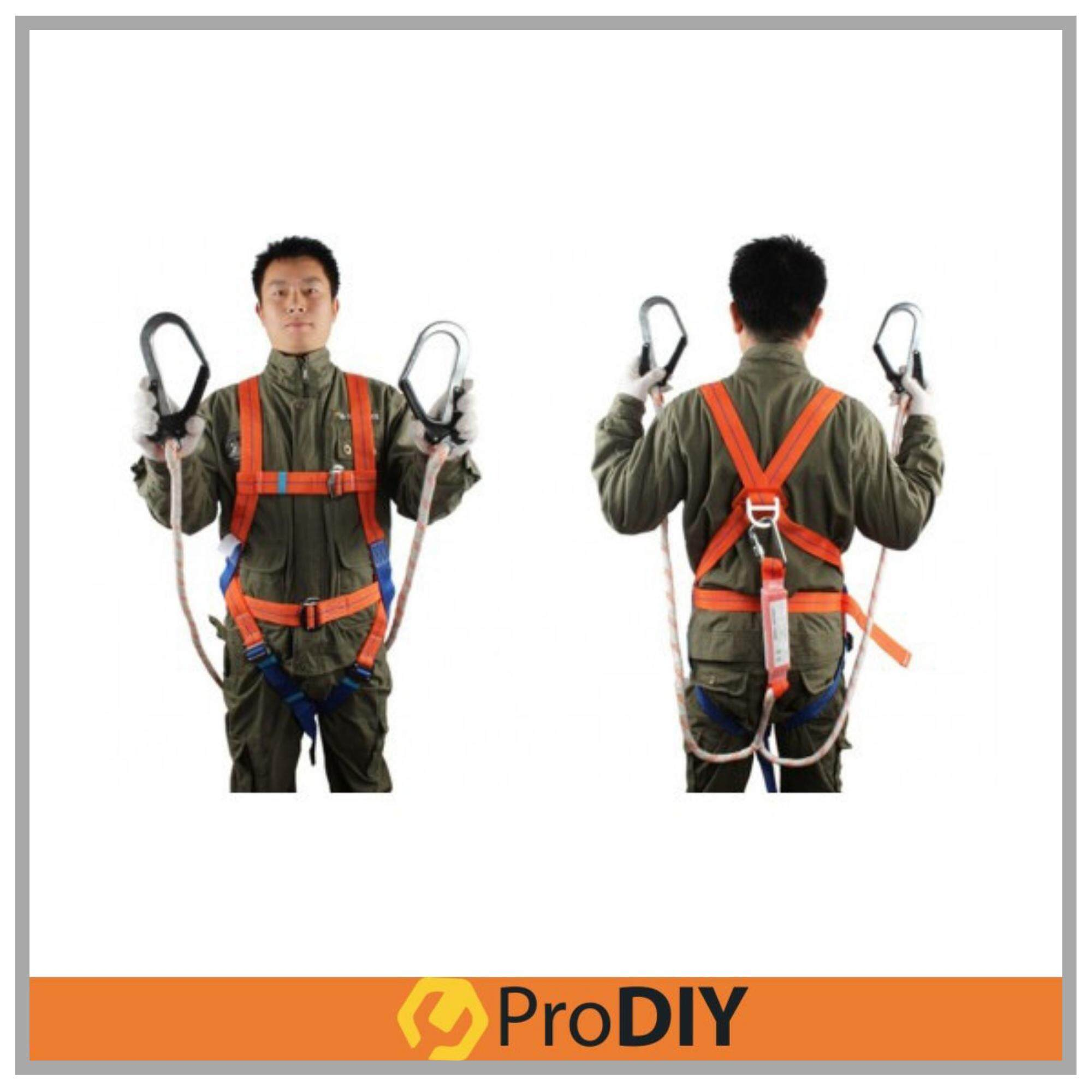 Safety Belt Full Body Harness Polyamide Twin Lanyard Twin Large Hook (SH2H)