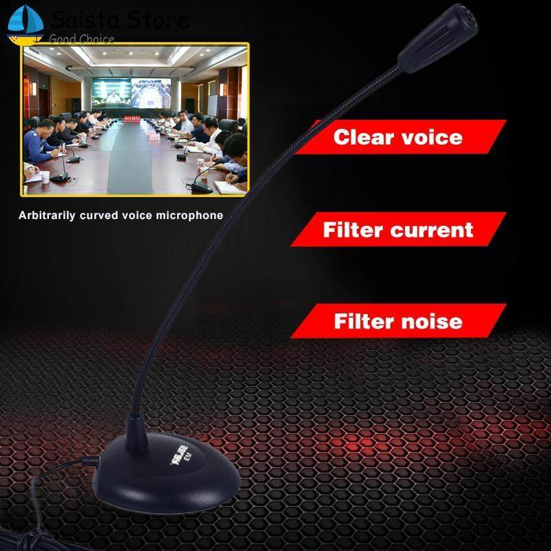 Saista Microphone Mike USB Microphone 3.5mm ABS+Metal Hose Capacitance Song Voice Recording Singing
