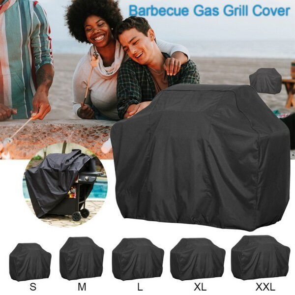 Waterproof BBQ Cover Outdoor Storage Rainproof Barbecue Grill Protective Cover