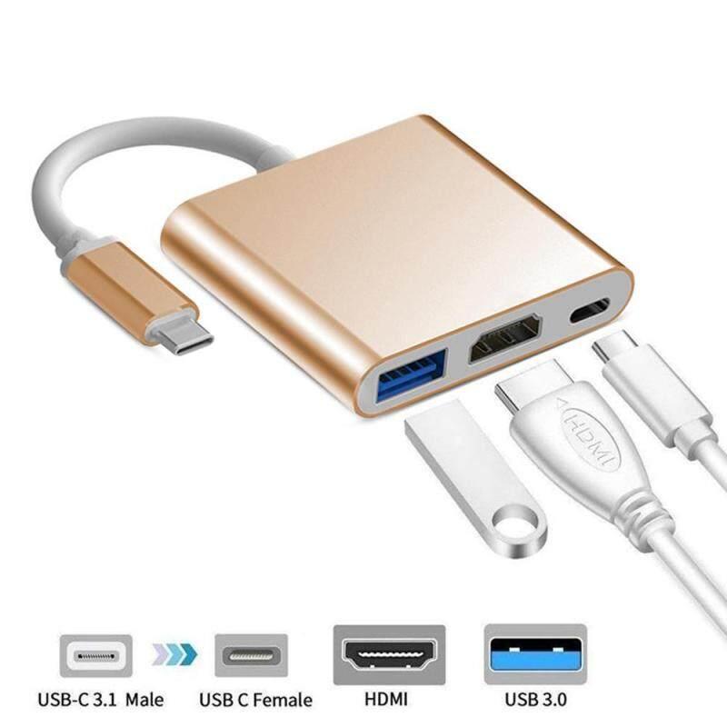 Bảng giá KOBWA Type-C Sang HDMI/USB3.0/Type-C Bộ Chuyển Đổi USB-C 3 Trong 1 Hỗ Trợ Nintendo Phong Vũ