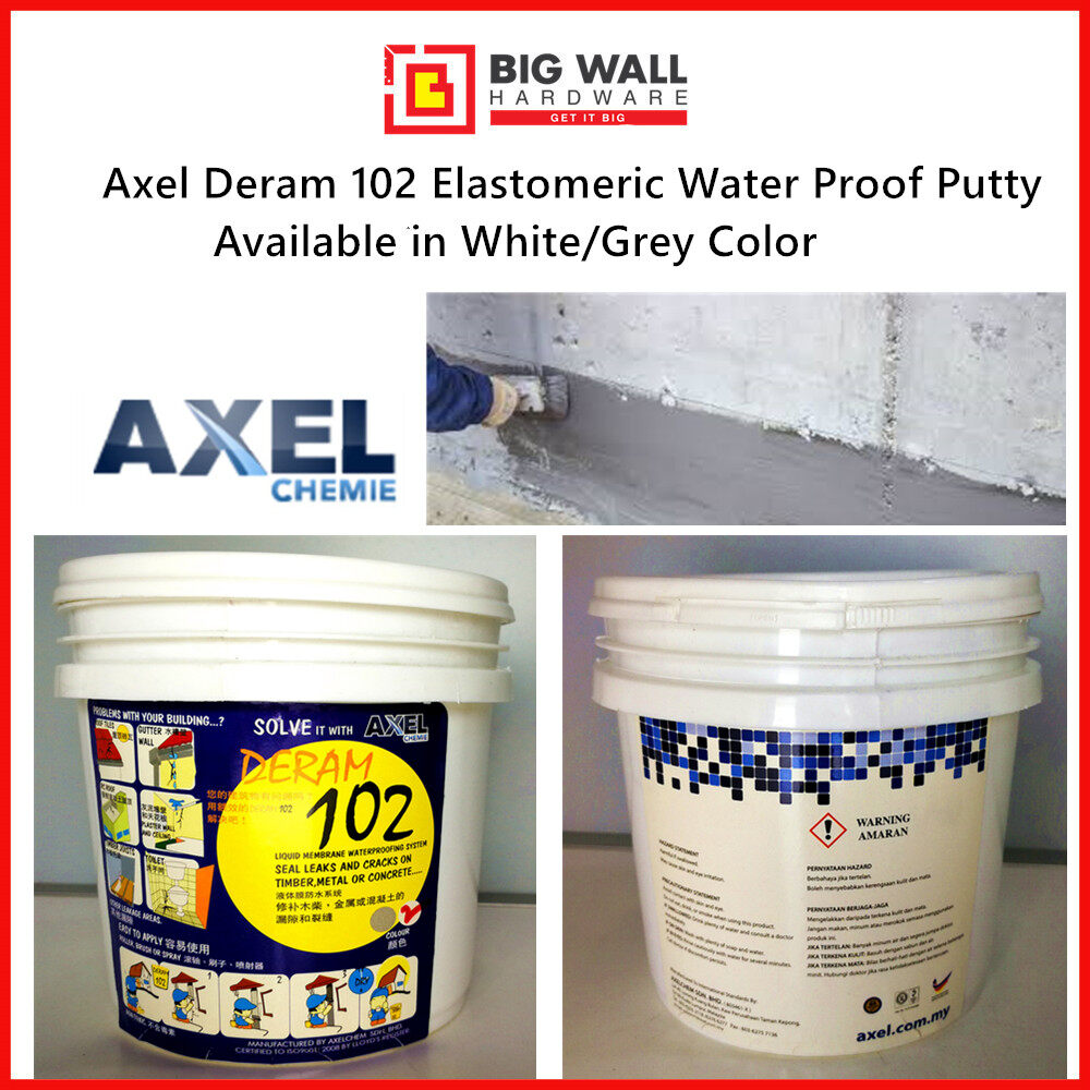 Axel Deram 102 Elastomeric Water Proof Putty 1.4kg (Available in White/Grey Color) Kalis Air [Big Wall Hardware]