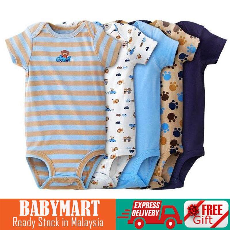 20dbd5195 5pcs in a pack ~ Baby BOYS Carter Cotton Romper (RANDOM
