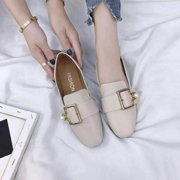 Kích Thước 35-40 Giày Duy Nhất Của Phụ Nữ Phẳng Giày Giày Kicking Bà Doudou Phiên Bản Hàn Quốc Mới Mùa Thu 2020 Giày Lưới Màu Đỏ Sang Trọng giá rẻ