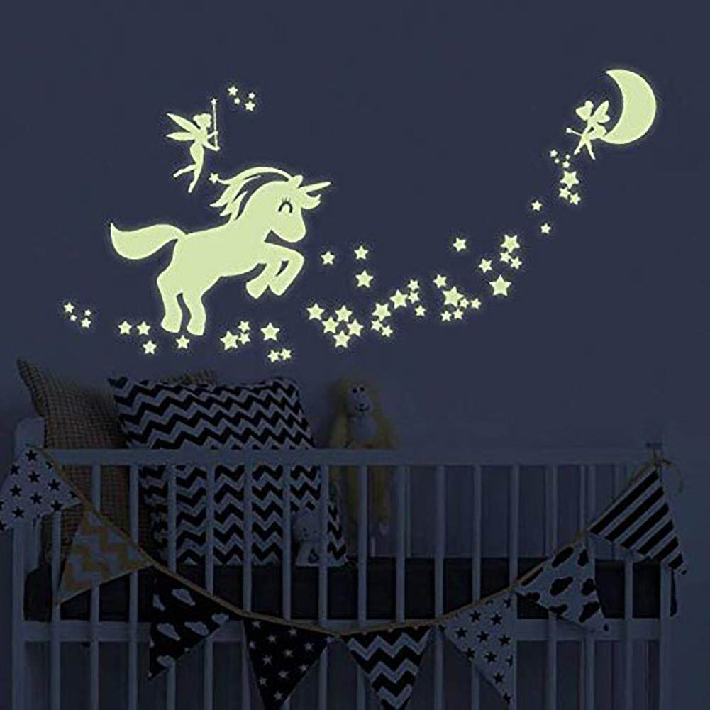 Unicorn Stars Design Luminous Glow in the Dark Wall Sticker Decal Kids Room Decor