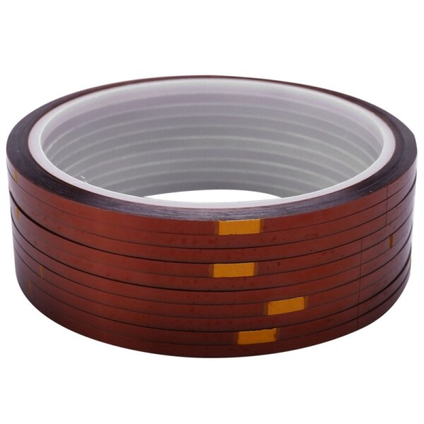10 rolls 33mx3mm Heat Resistant Heat Temperature Adhesive Tape Sublimation Mug Tape,Brown color