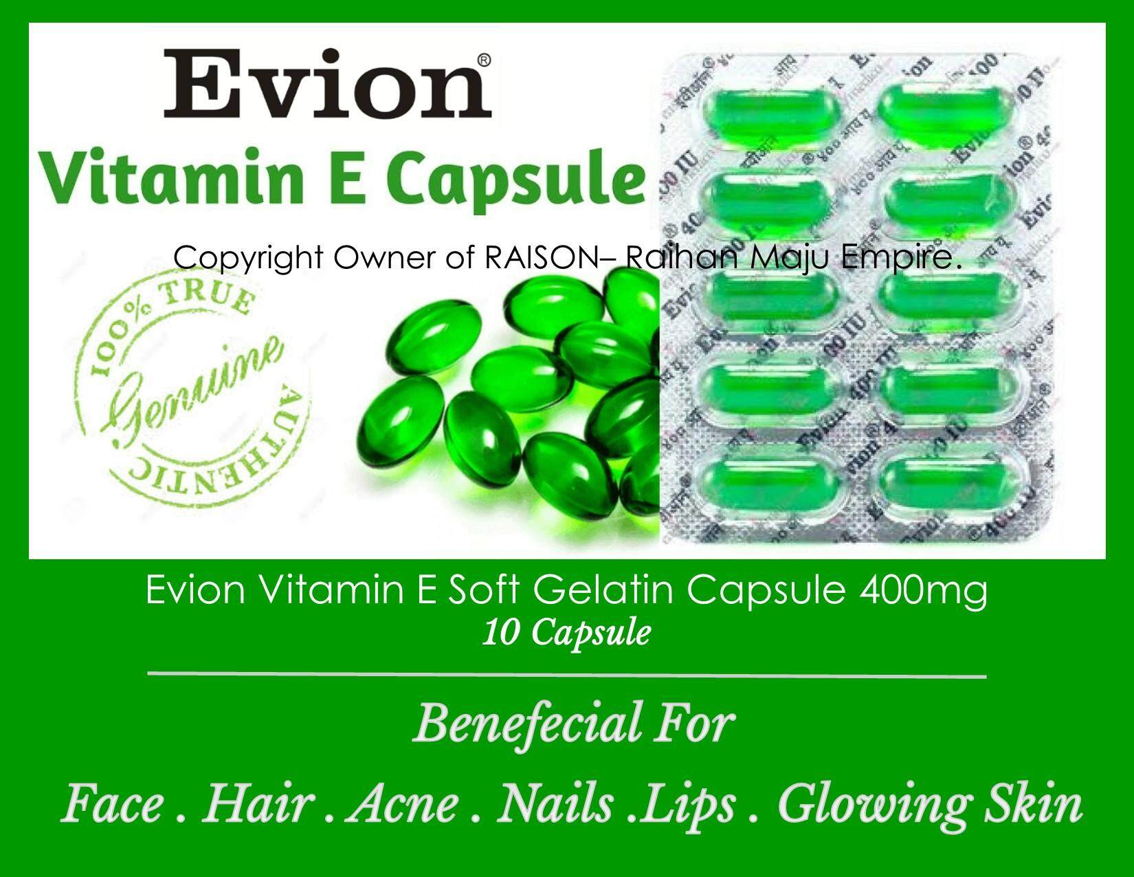 Evion Vitamin E 400mg - 10 Capsule External Use By Raison- Raihan Maju Empire.