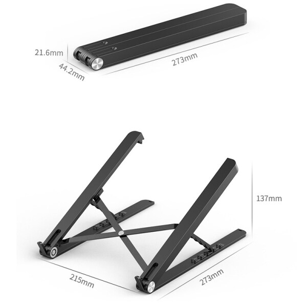 Bảng giá Foldable Plastic Laptop Stand Portable Office Tablet Stand Bracket Laptop Holder for MacBook Pro Notebook Ipad Stand Phong Vũ
