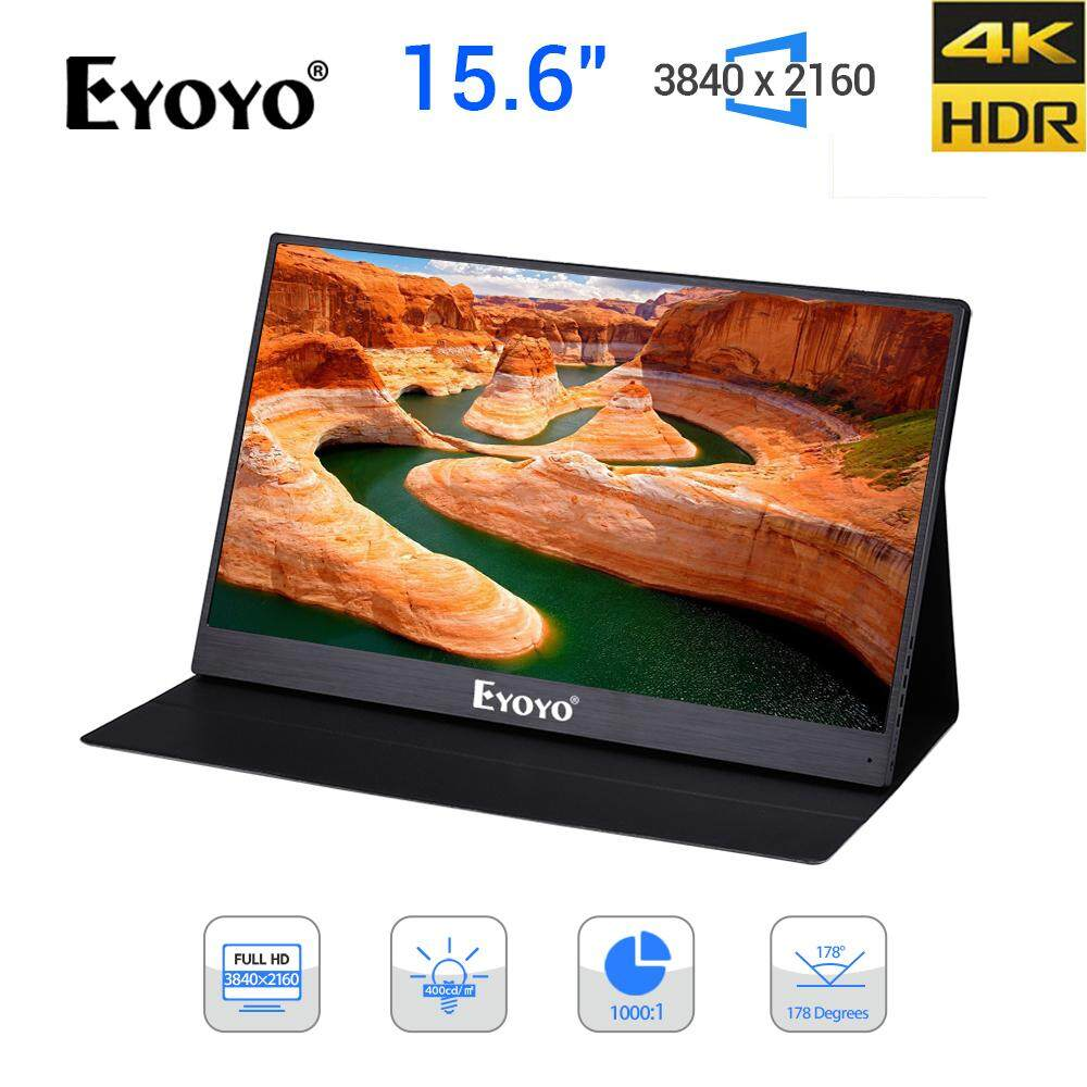 EYOYO 15.6 Inch 4K Portable Game Monitor for PS4 PS4 PRO Xbox NS HD 3840 2160 IPS Type C Screen with HDR Speaker