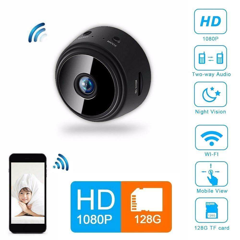 GoodGreat A9 Full HD 1080P Night Vision Camera Camcorder Round WiFi Mini IP  Camera Remote Control Suction Video-Recorder Sports DV Camera For