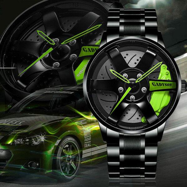 〖Free Shipping〗Mens Car Wheel Watch Fashion Sport Watch Quartz Mesh Rim Hub Watch Malaysia