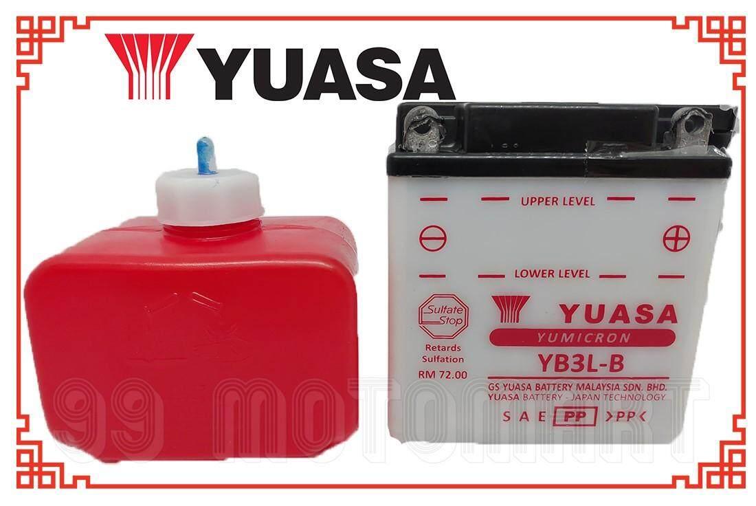 Yuasa Battery Yb3l-B (100% Ori) Yb3l Y110 Y100 Kriss Rxz Y1 By 99 Motomart.