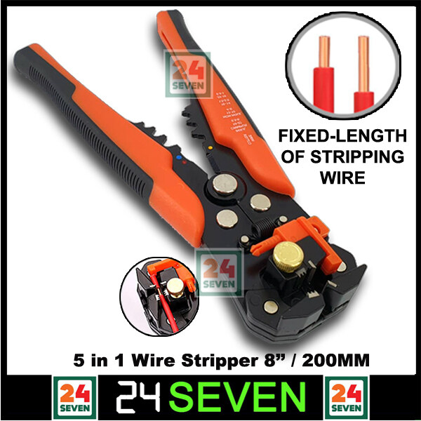 ◑◆  [ READY STOCK ] Automatic Wire Stripper Wire Crimper Wire Cutter 5 In 1 Wire Stripper Cable Cutter Tool - Pliers Tool