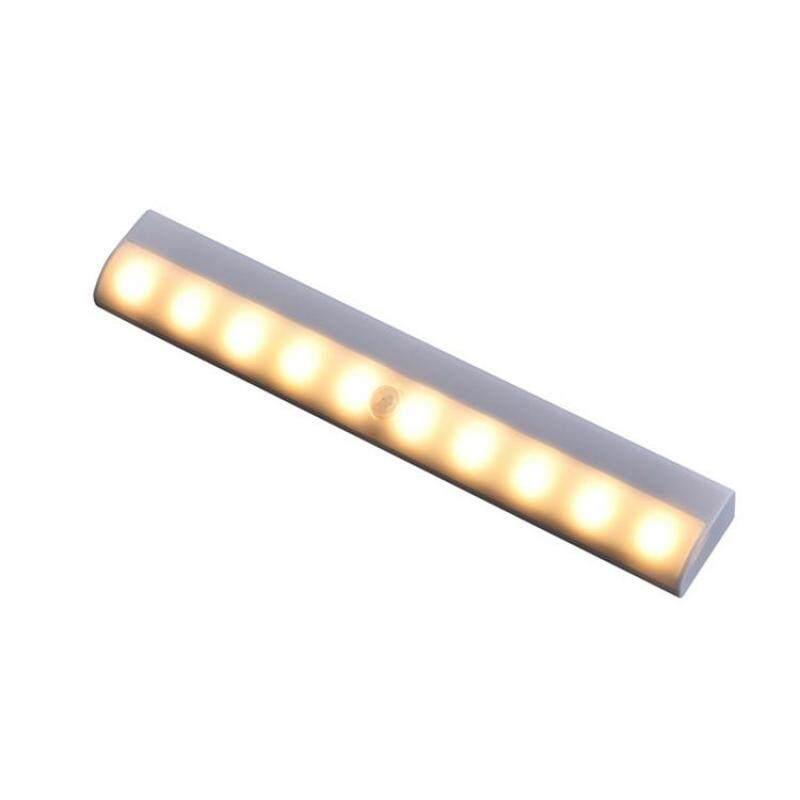 Đèn LED Cảm Biến Chuyển Động Từ Tính 10 Bóng, Đèn Ngủ Cảm Biến Dạng Dính Cho Tủ Quần Áo, Tủ Quần Áo, Phòng Tắm, Lối Đi, Phòng Khách