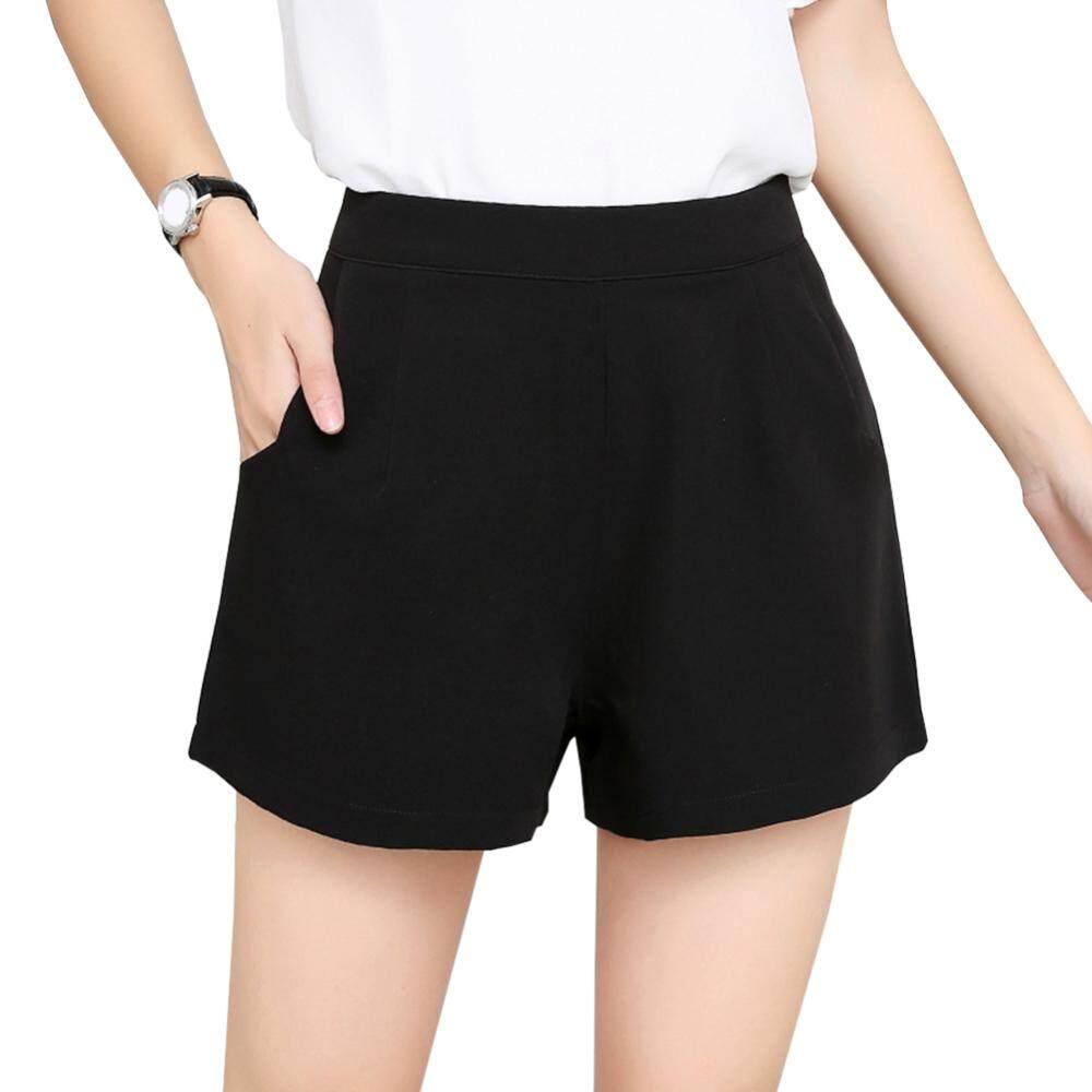 60bfdda8c3 [YP-HooWoo.MY]High Waist Wide Leg Short Pants Casual Loose A-line Shorts  for Women