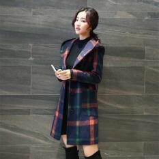 Dài Có Mũ Nữ Áo Len Mùa Đông Phong Cách Mới Hàn Quốc Nữ Áo Len Chất Lượng Cao