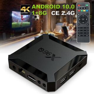 Đầu Thu TV 4G + 64GB, 4K X96Q Android 10.0 Thông Minh H313 2.4G WIFI Rạp Hát Tại Nhà & TV Chứng Nhận CE thumbnail