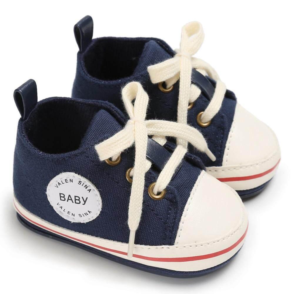 Goldenfashionie Anak Bayi Perempuan Anak Sepatu Balita Perempuan Anak Laki-laki Bayi Sol Lembut Baru Anti-Slip Bayi Sepatu Kets Berbahan Kain Kanvas