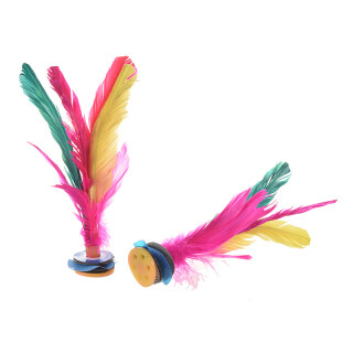 Colorful Feather Kick Shuttlecock Chinese Jianzi 2 Pcs thumbnail
