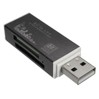 CTO OEM USB Lettore Di Schede Di Memoria Memory Card Reader Per SD SDHC TF MS M2 (Black)