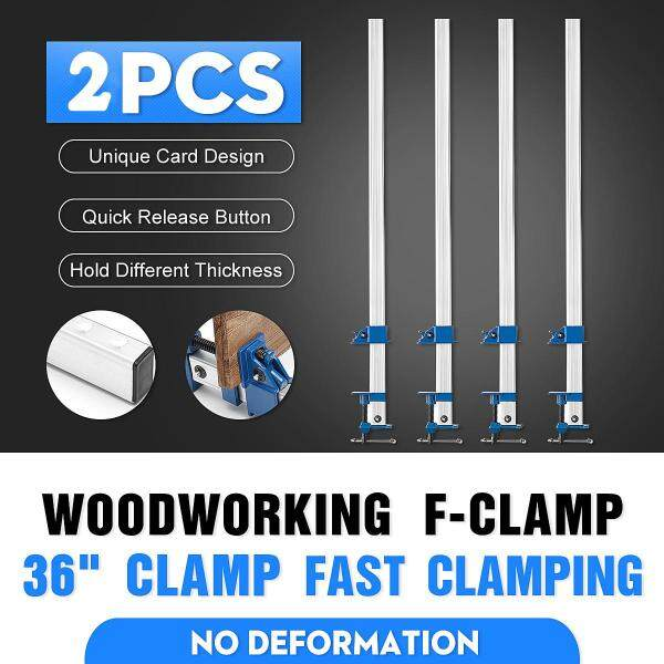 24/36inch Heavy Duty F Clamp Bar Clamp Woodworking Quick Slide Wood Clamp  2 pcs