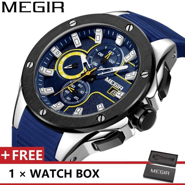 MEGIR 2053 Top Luxury Brand Watch For Man Fashion Sports Men Quartz Watches Trend Wristwatch Gift For Male jam tangan lelaki Malaysia