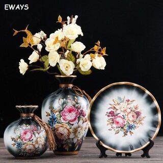 3 Cái bộ Gốm Sứ Châu Âu Bình Hoa Khô Cắm Hoa Wobble Tấm Lối Vào Phòng Khách Đồ Trang Trí Trang Trí Nhà thumbnail